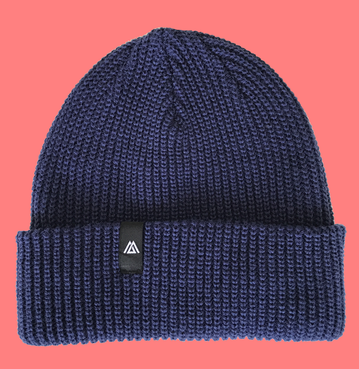 Custom design beanie hat with woven label