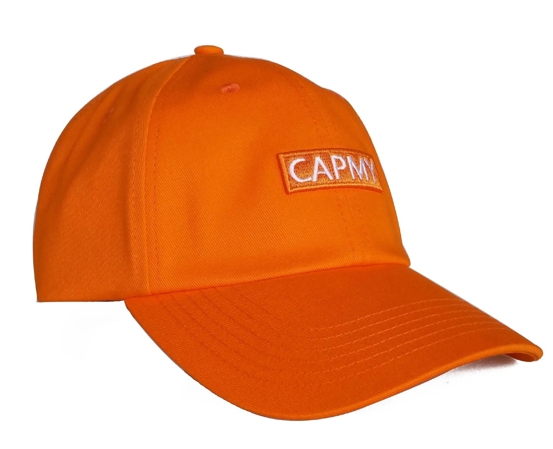 Custom orange cotton dad hat manufacturer baseball cap