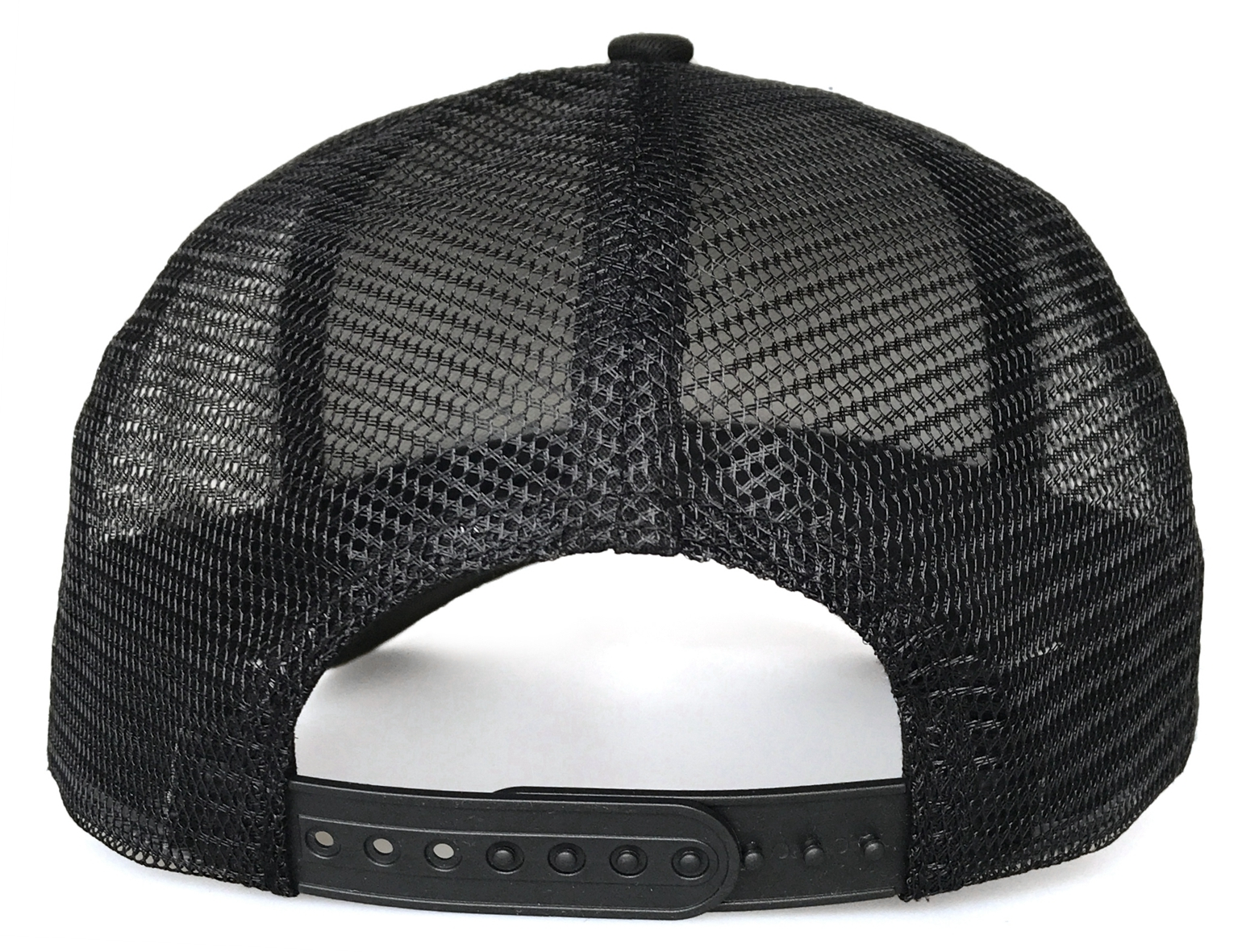 Fashion 5 panel style black 3D embroidery mesh hat