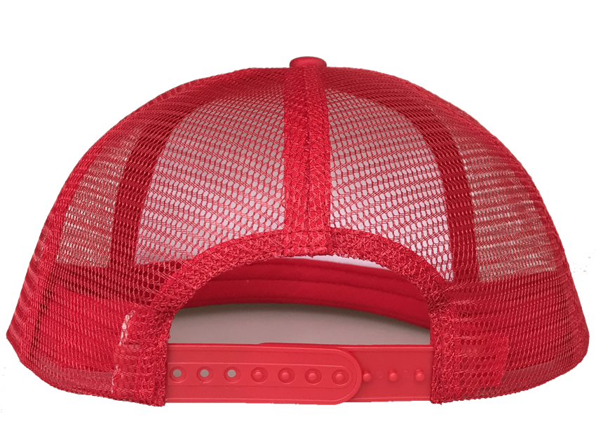 Bright red colour 6 panel style trucker hat