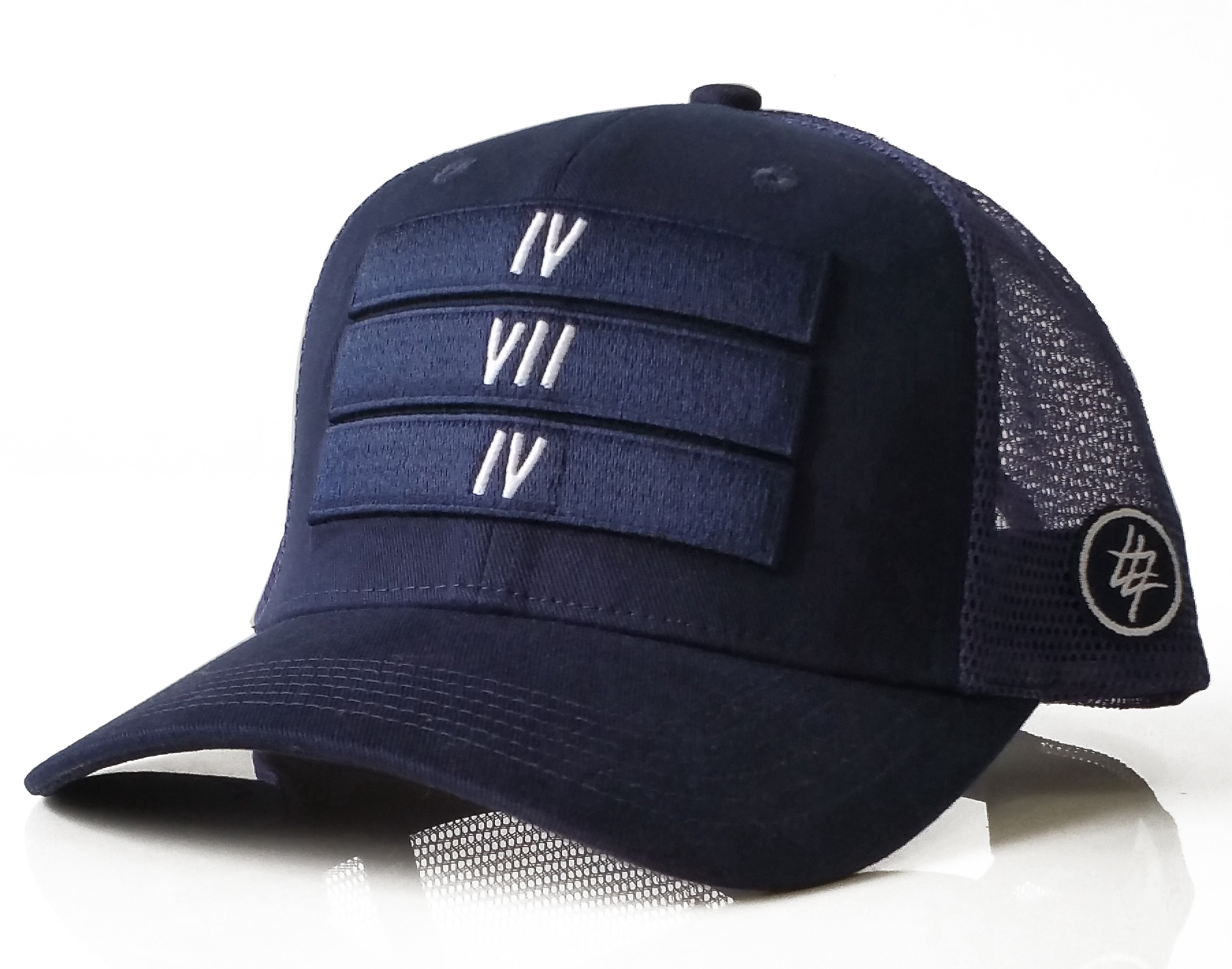 Fashion dark blue 6 panel collection trucker hat