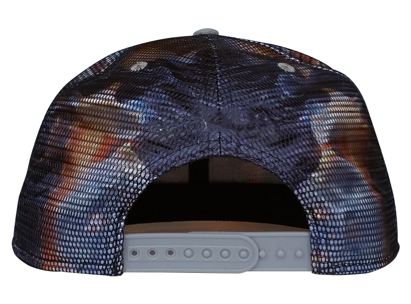 Fashion printing pattern with mesh outside snapback cap