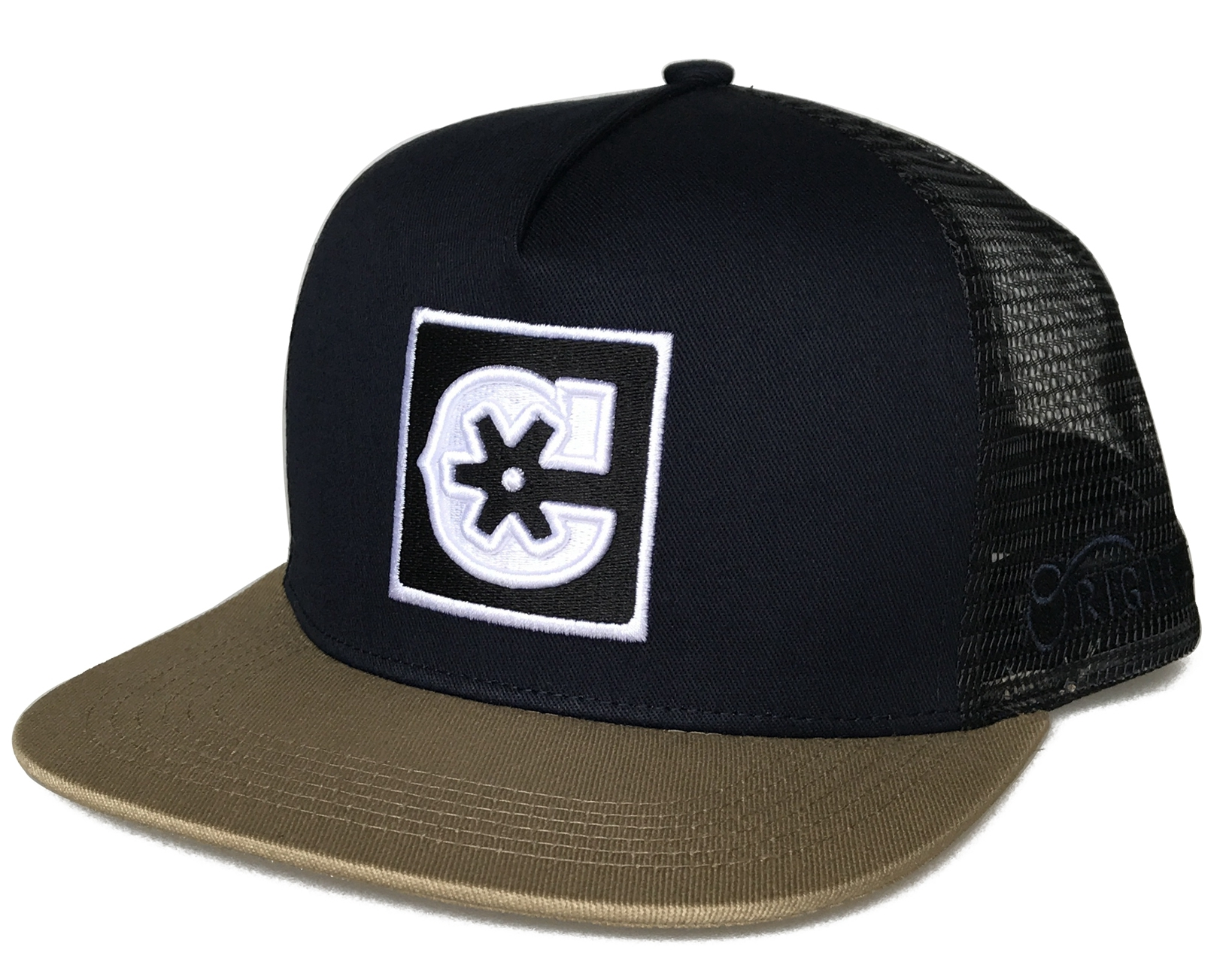 Dark navy snapback cap style trucker hat supplier
