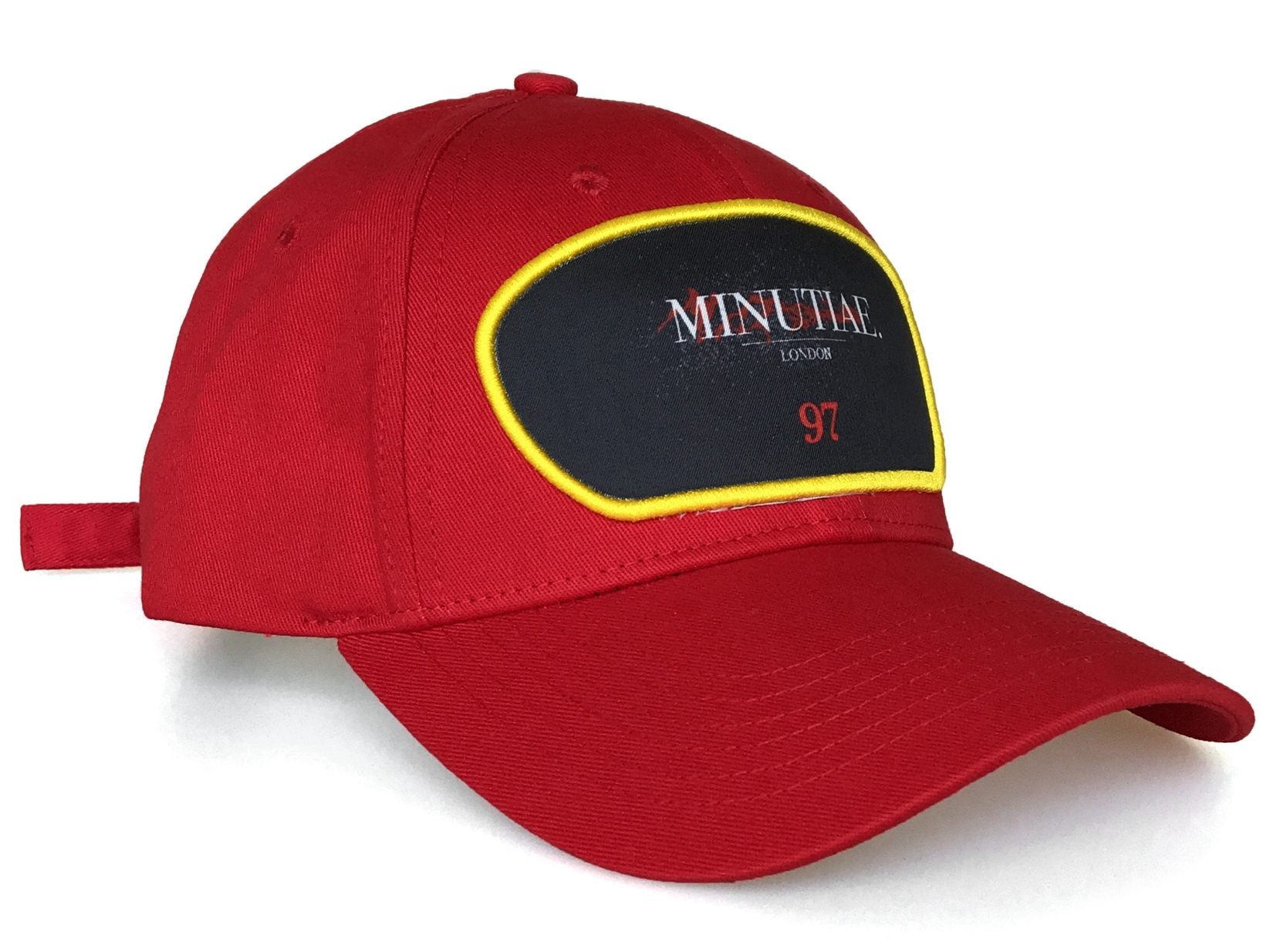 Fashion red cotton 5 panel yelir baseball cap supplier