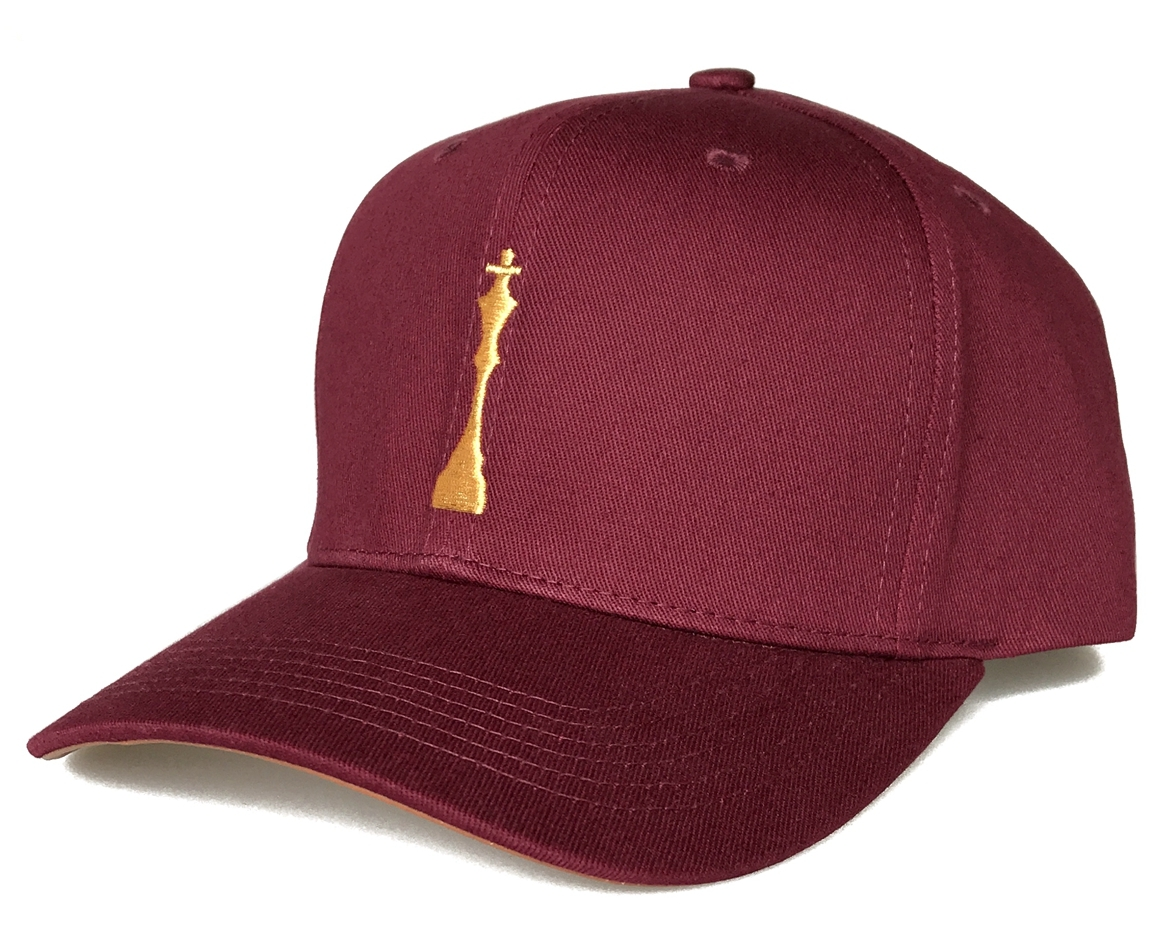 Popular maroon colour 6 panel style baseball cap