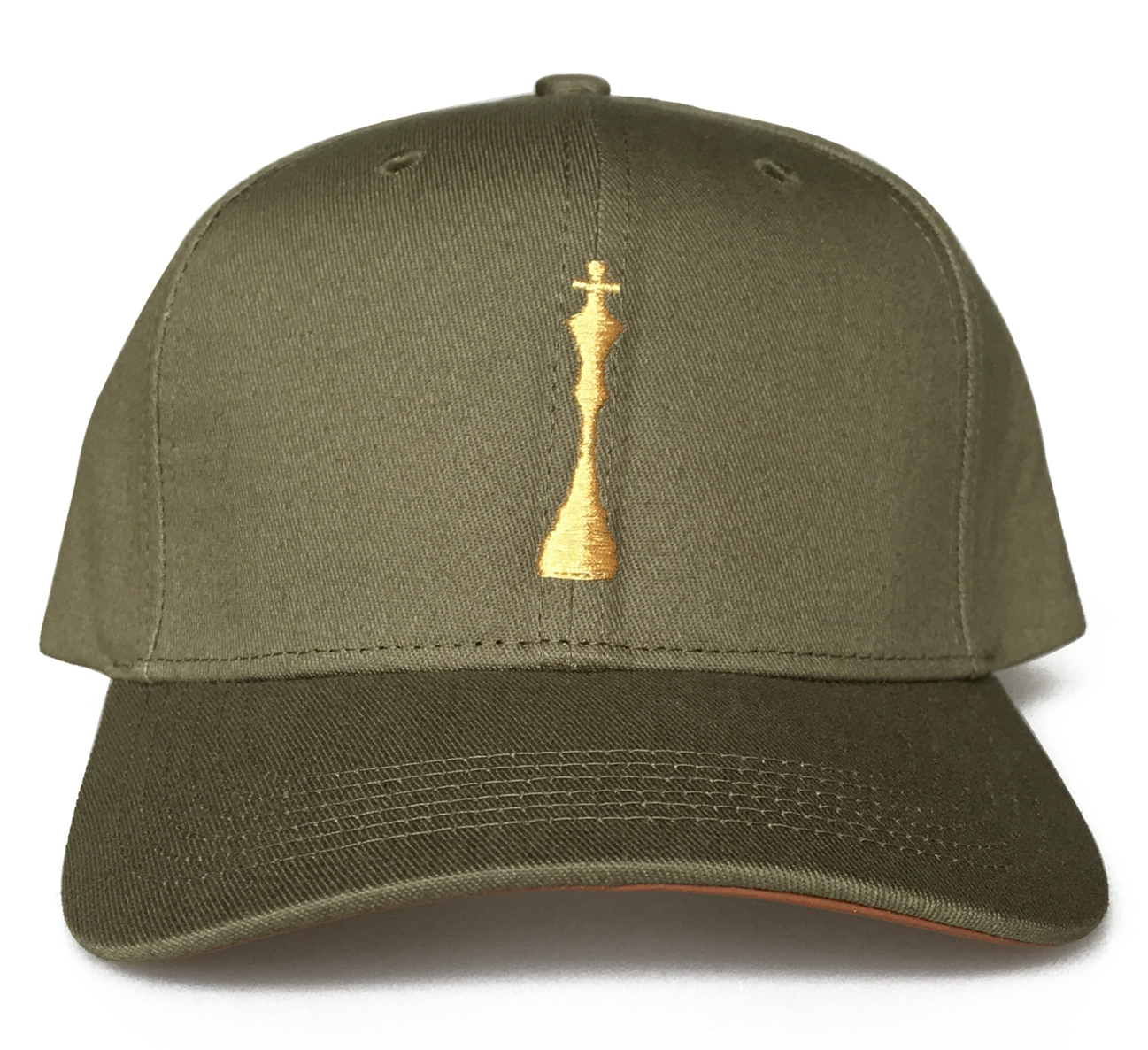 Fashion army green colour 6 panel style baseball cap