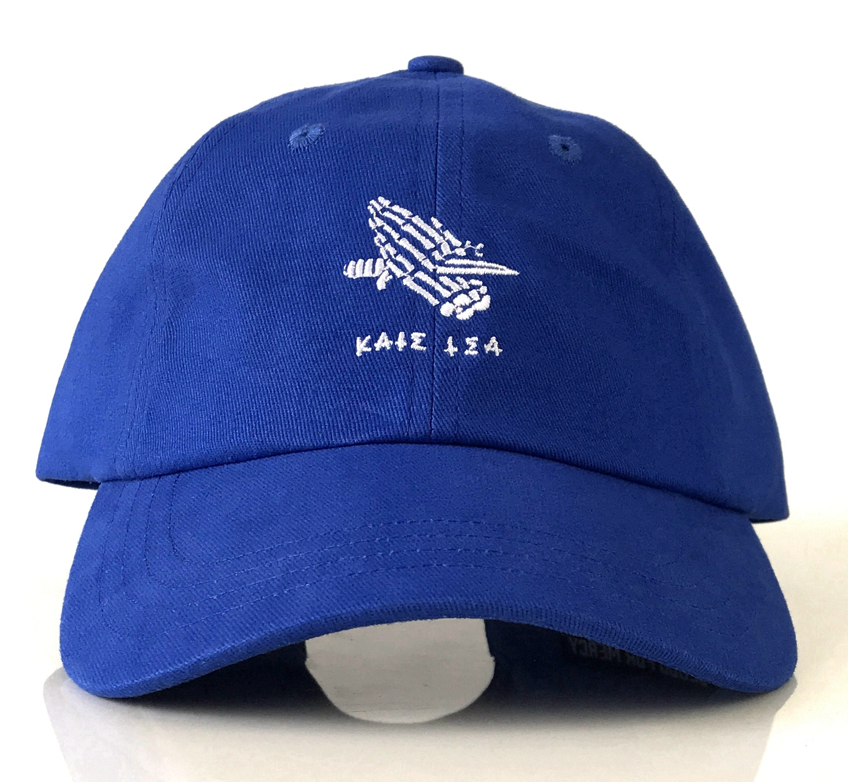 Royal blue 6 panel style dad hat supplier in China