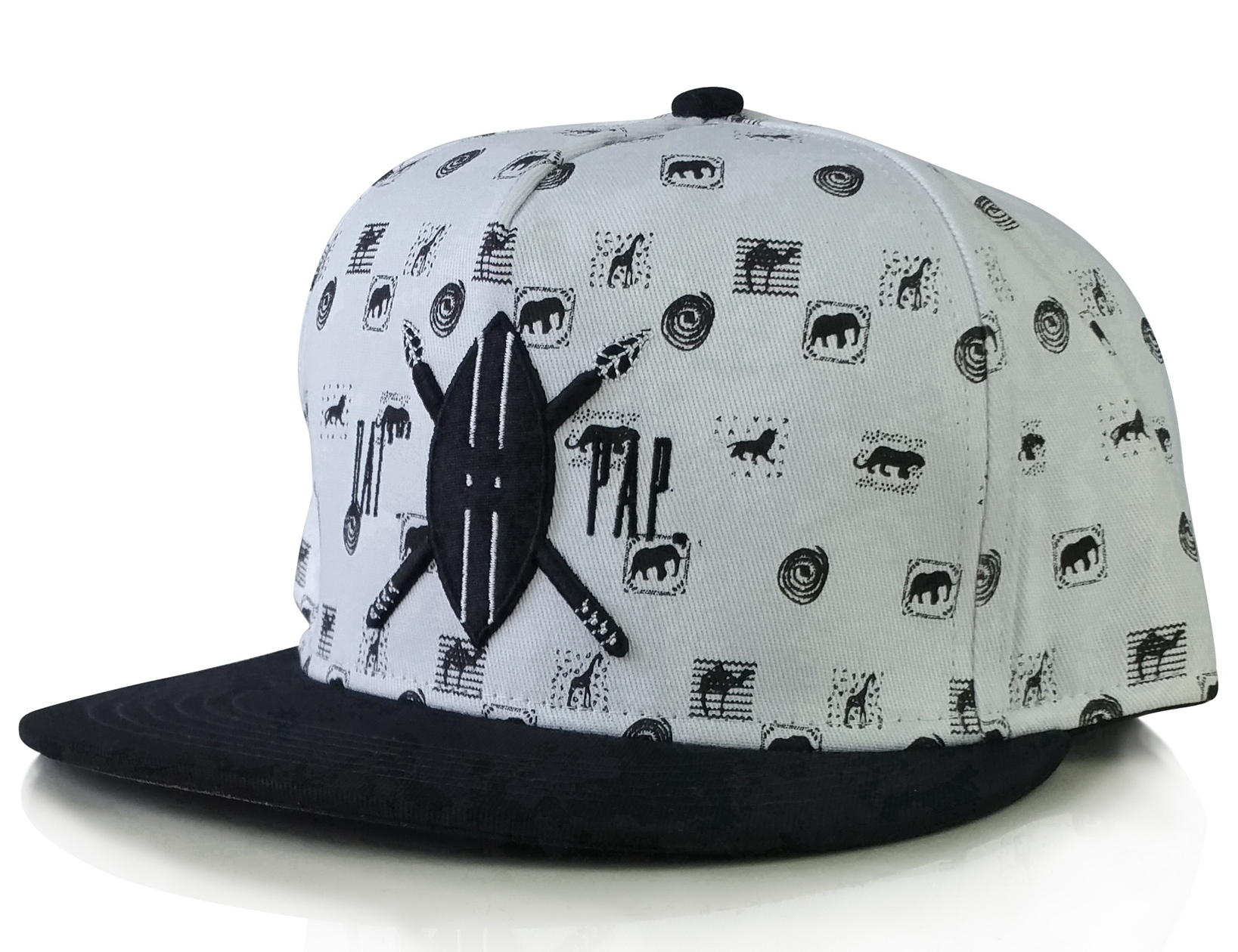 Custom 5 panel style with woven label snapback cap