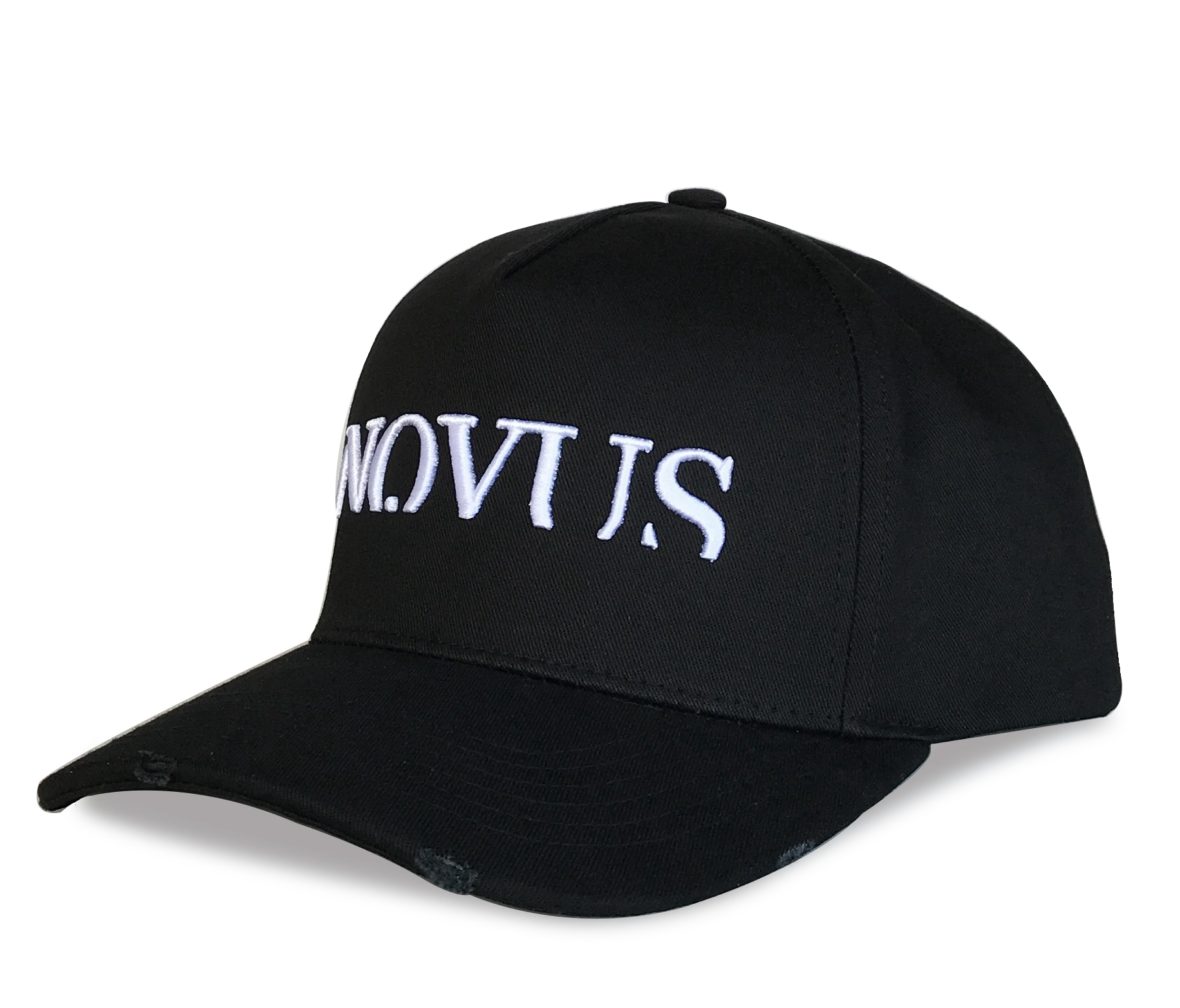 High quality black cotton 6 panel baseball cap supplier