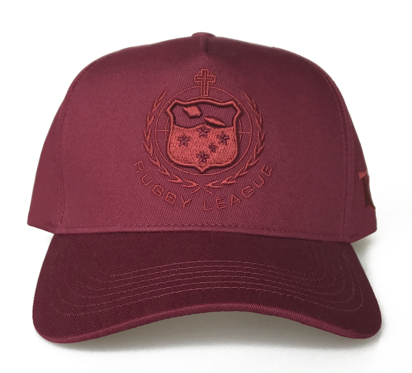 Custom 5 panel A Frame Maroon Baseball Cap Hat