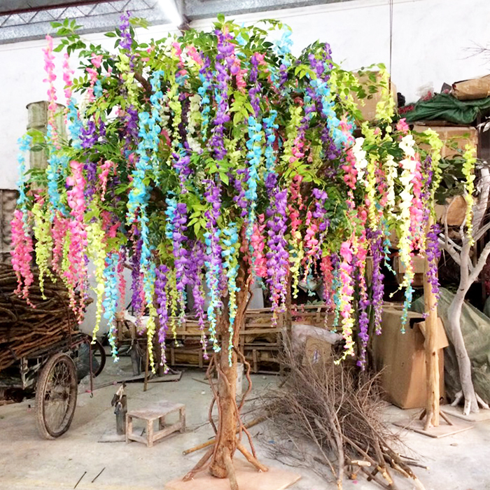 Artificial gorse wisteria tree