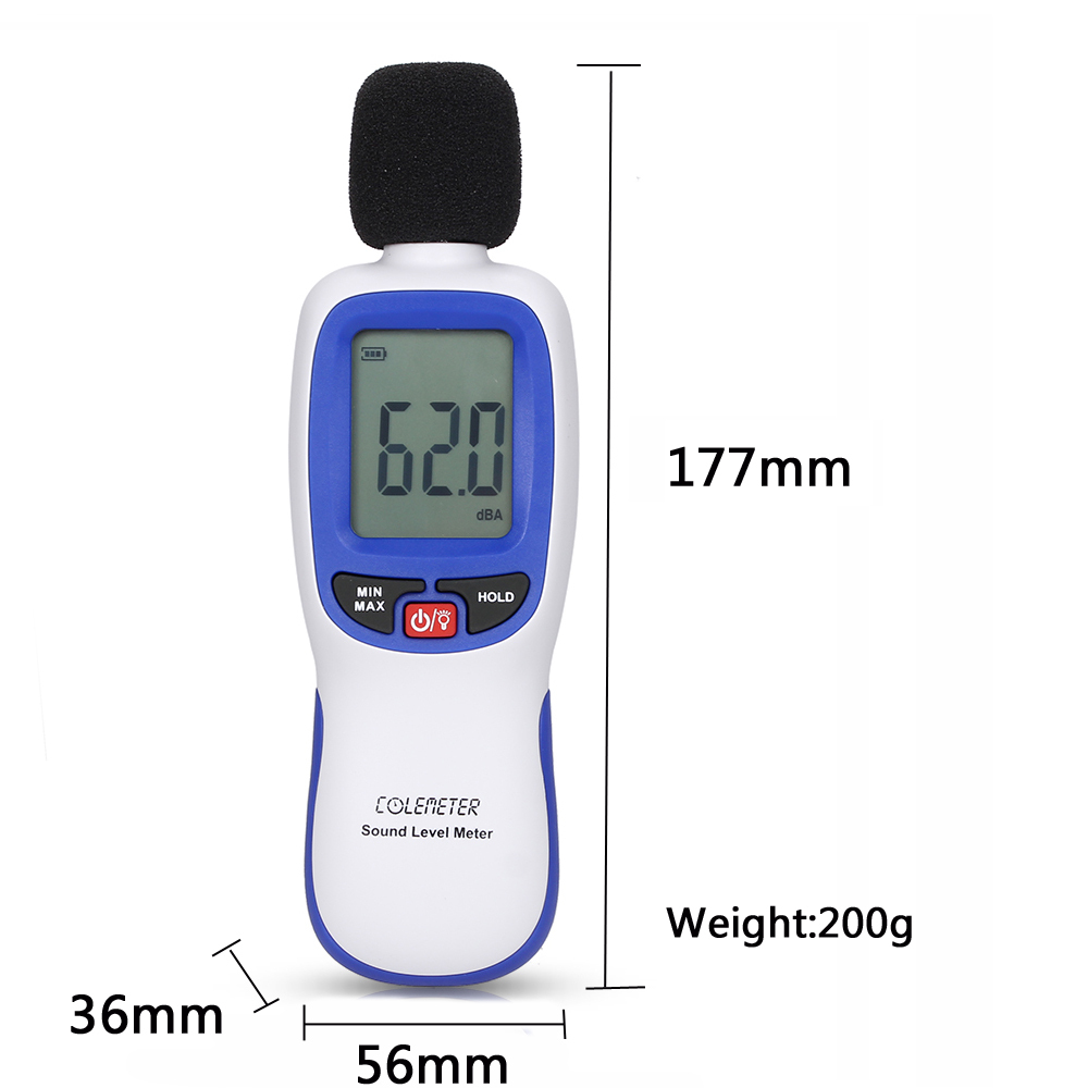 Sound Level Meter , COLEMETER Digital Noise Meter Decibel Me