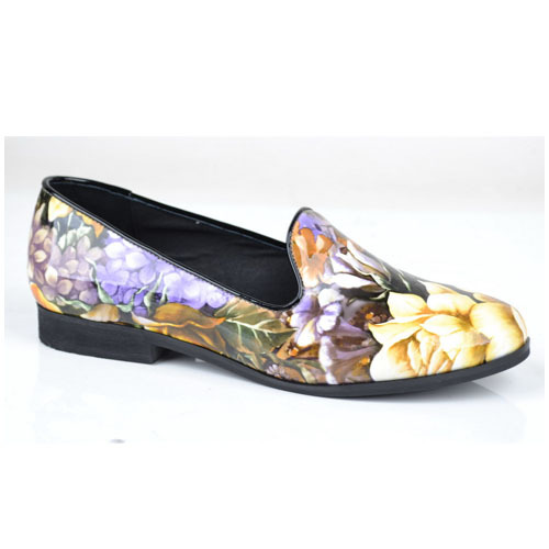 pointed patent genuine leather flat shoes manufacturers comp