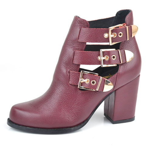 Genuine leather ankle boots shoes china supplier