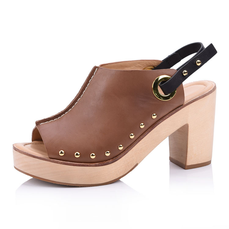 Handle heeled sandals shoes manufacturers company in china