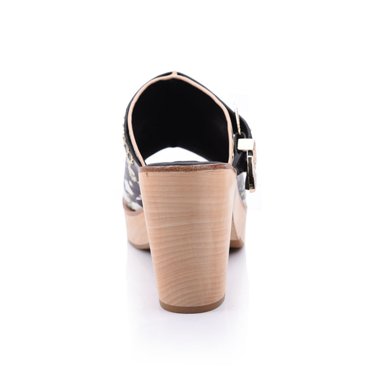 Clog heeled sandals mules shoes manufacturer