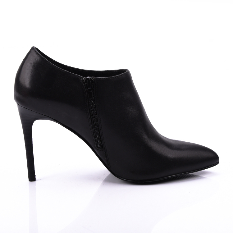 baby cow leather pointed heeled ankle boots shoes women foot