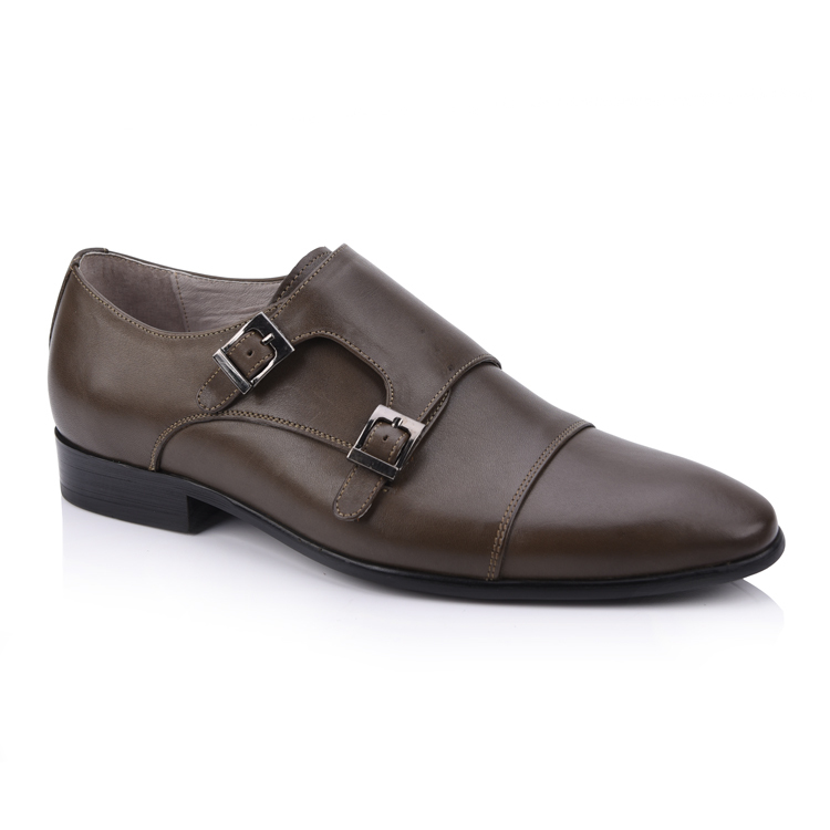 Men's genuine leather monkstrap & double monk strap shoes fa