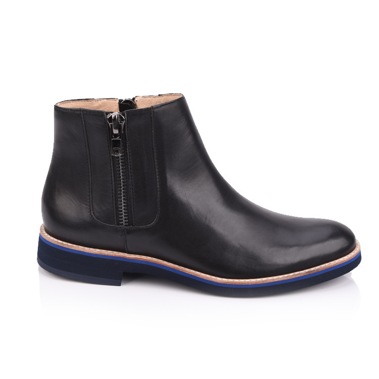 black  leather chelsea boots shoes for men footwear supplier