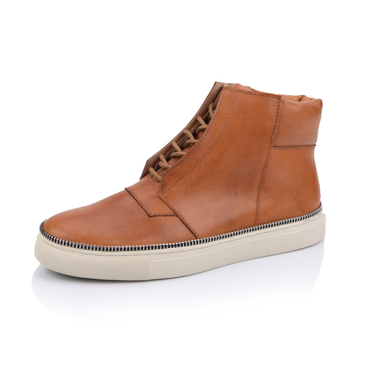 men's leather sneaker boot shoes factory