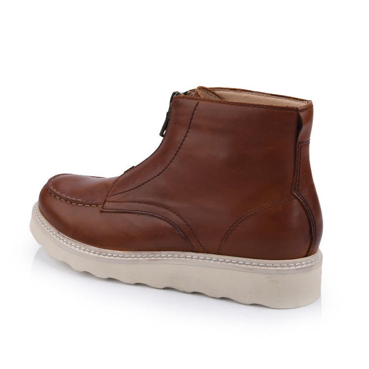 men's leather chukka moc boots shoes company and manufacture