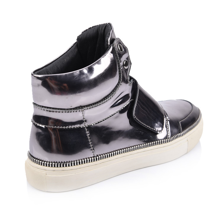 men's velcro strap sneaker boots shoes factory