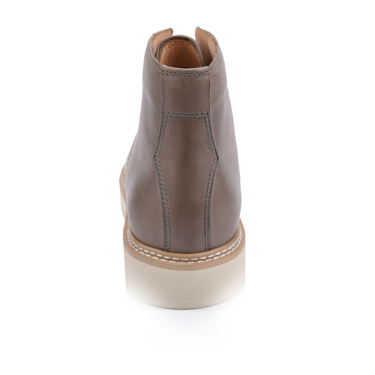 men's leather chukka moc boots shoes factory in china