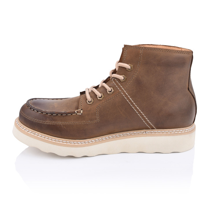 men's lace-up chukka moc boots shoes factory in chiina