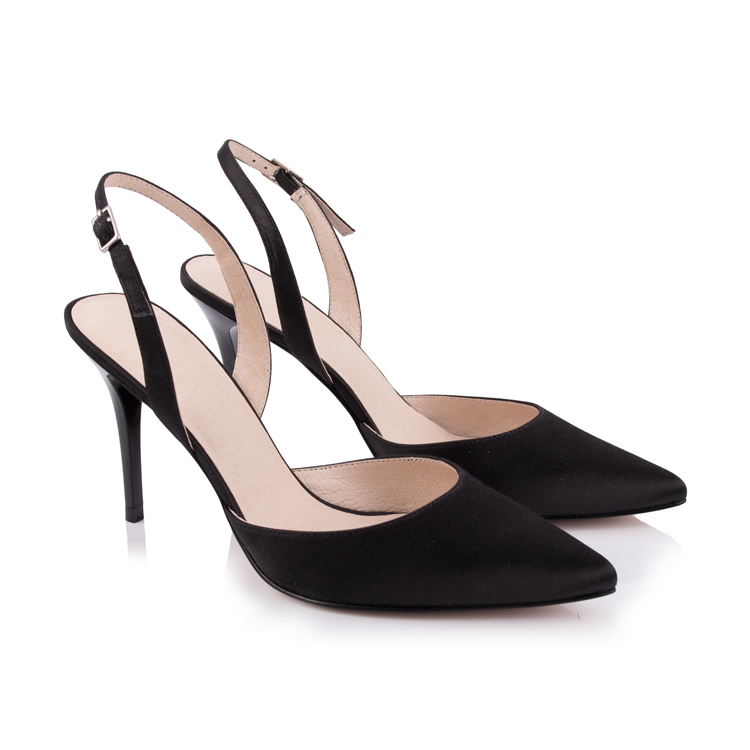 satin pointed toe slingback pumps sandal women shoes footwea