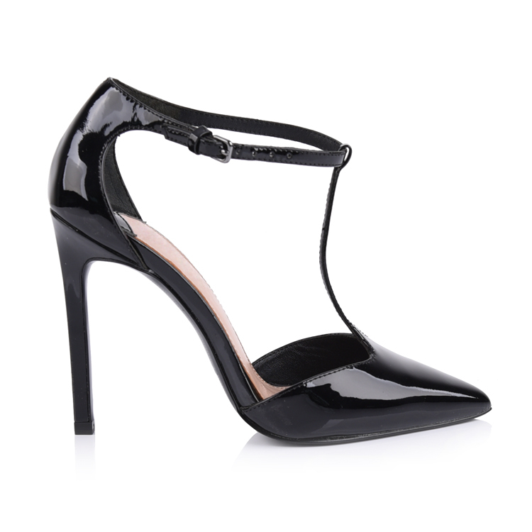 99f4306db32b ... women s patent leather t-strap heels sandal shoes manufactur ...