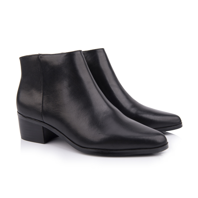 genuine leather ankle boots for women shoe manufacturers