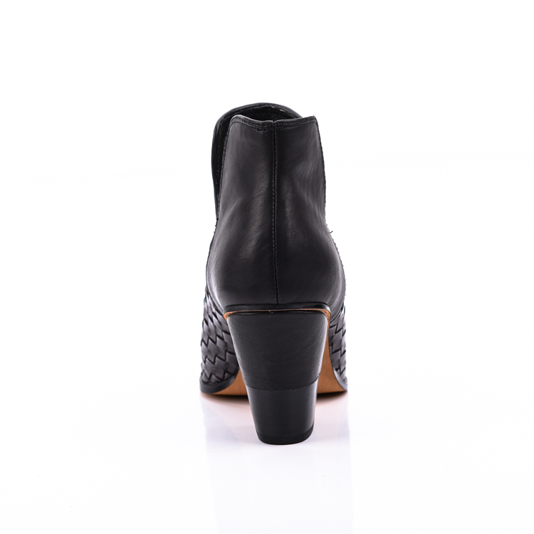 cut out leather women ankle boots shoes manufacturers