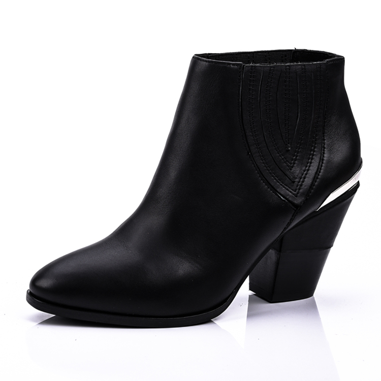 leather ladies ankle boots shoes manufacturers in china