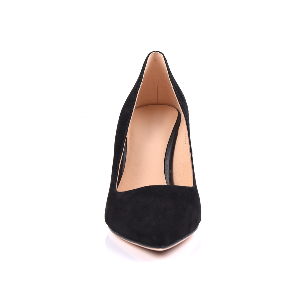 suede leather pointed toe pump women shoe manufacturers