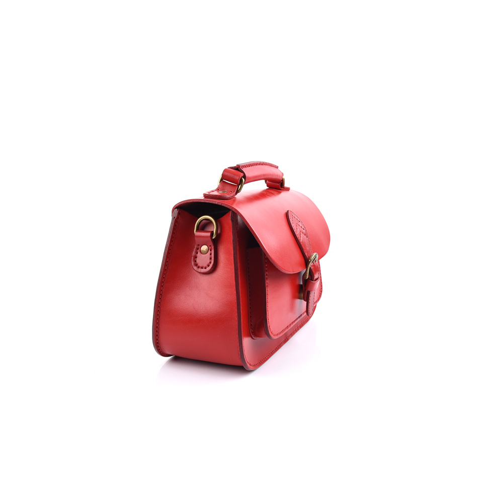 women leather buckle cross body bag manufacture