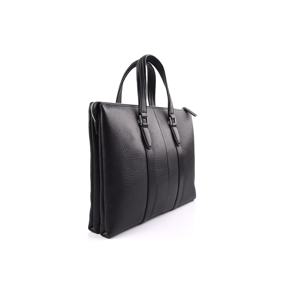 cow leather black briefcase bags manufacture