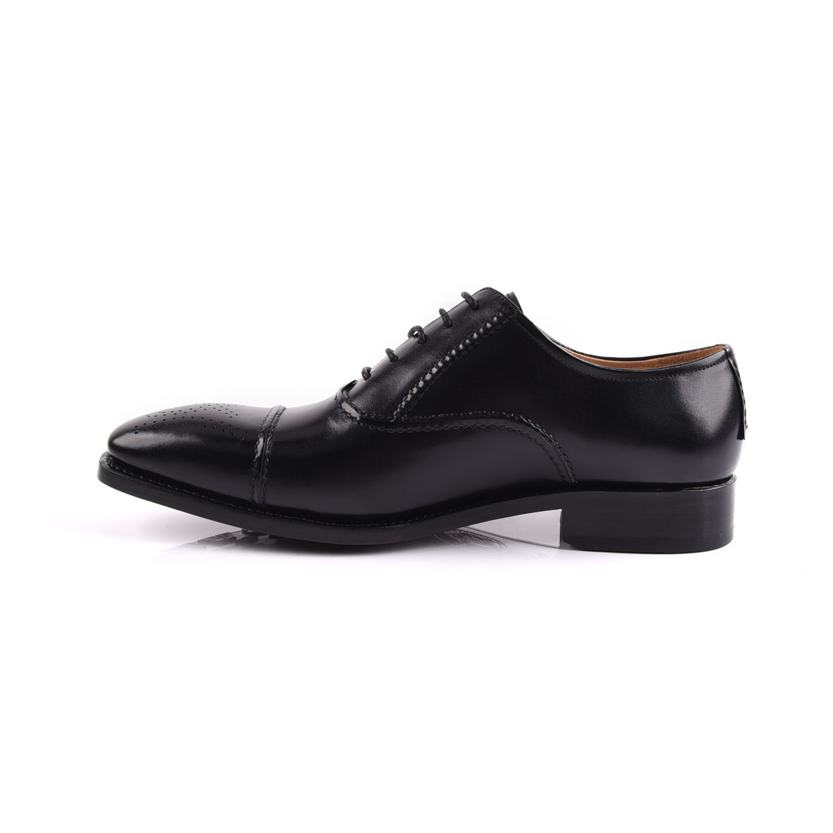 Goodyear leather men classic lace up shoe manufacture