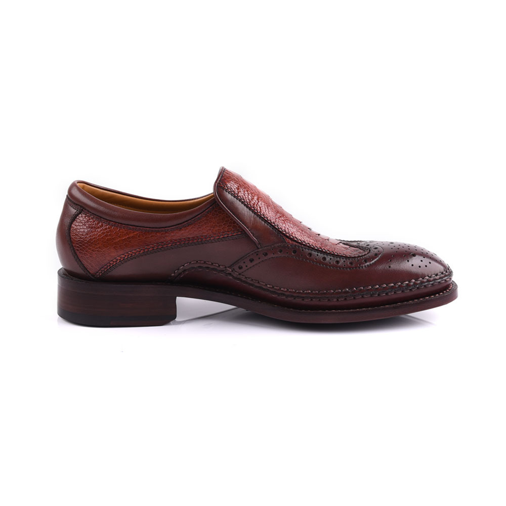 Goodyear hand work men leather shoes manufacture