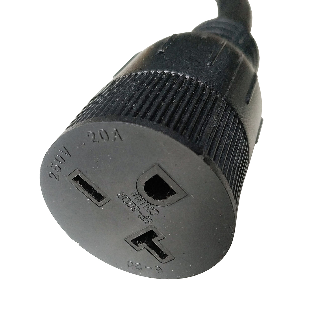 NEMA 6-20 Extension Cord 6-20P to 6-20R(6-15R) 3FT