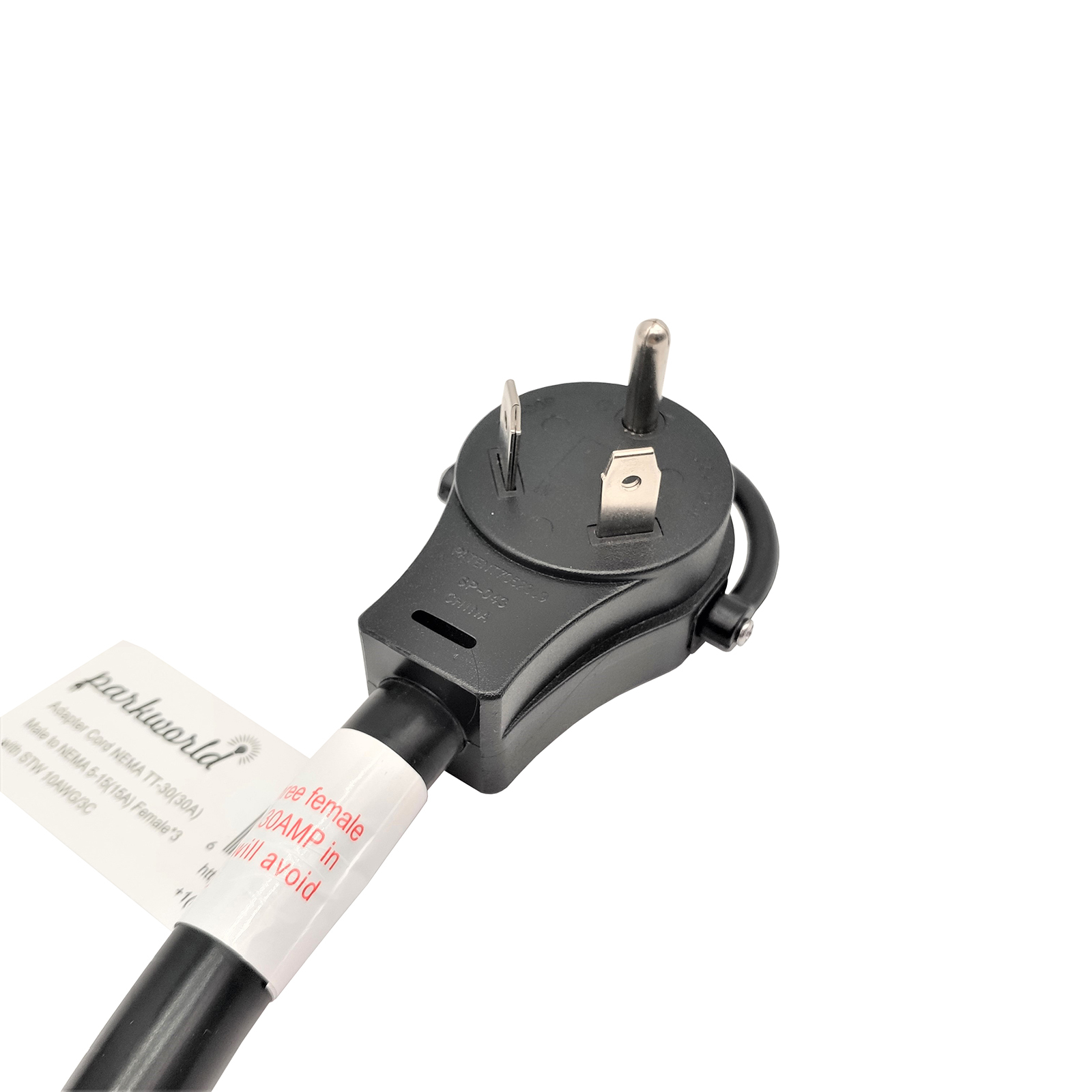 RV 30A to 15A Tri-Outlet with Lighted (1.5Feet)