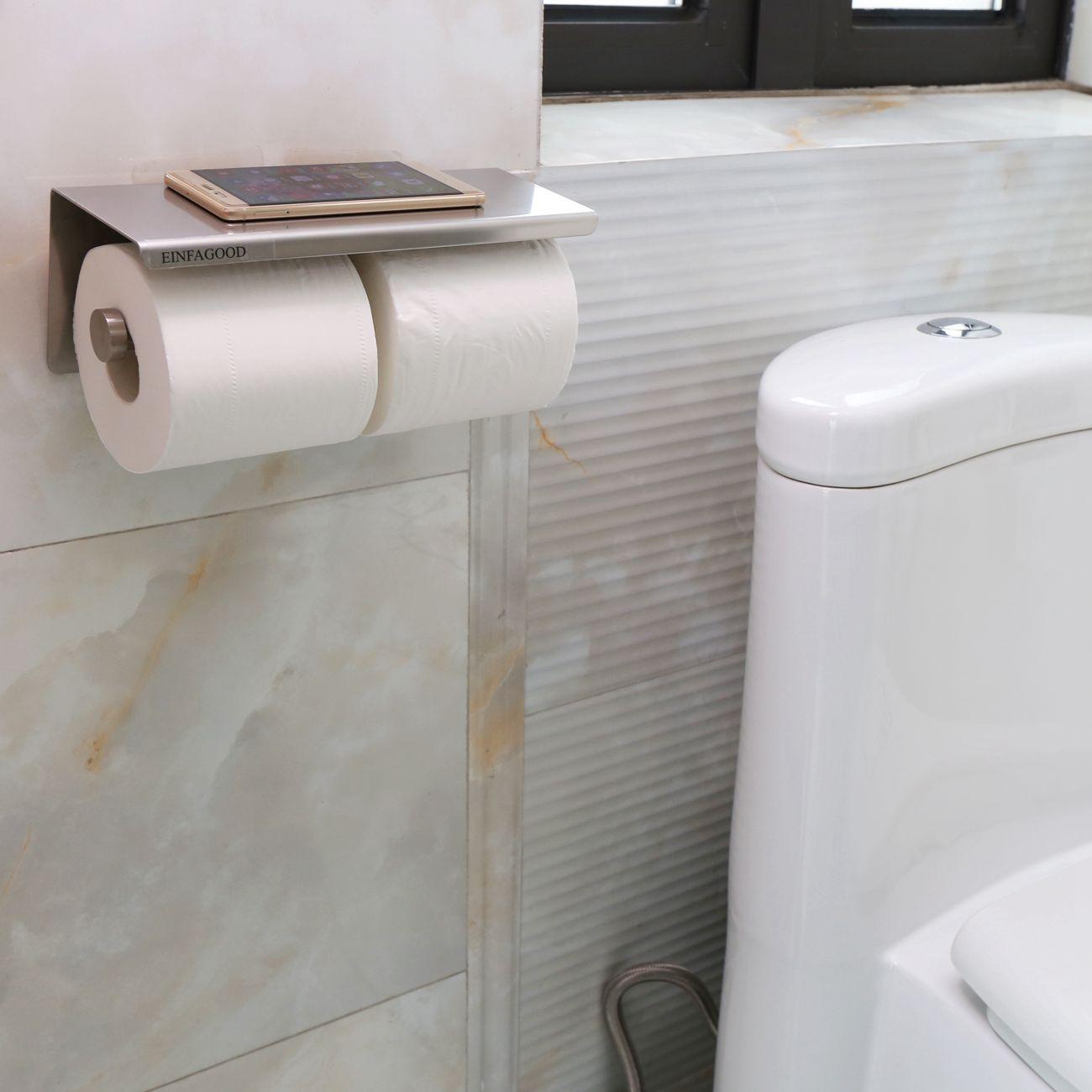 Toilet paper holder einfagood toilet roll tissue holder - Bathroom towel and toilet paper holders ...