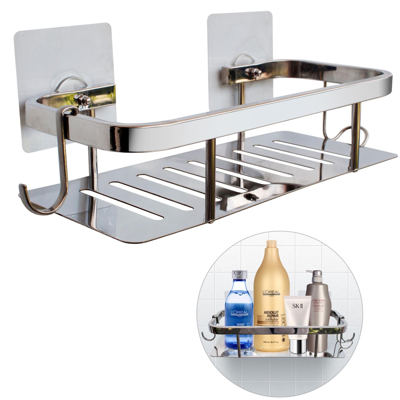 duschkorb ohne bohren bad organizer f r dusche mit magie klebepads ideale alternative zu. Black Bedroom Furniture Sets. Home Design Ideas