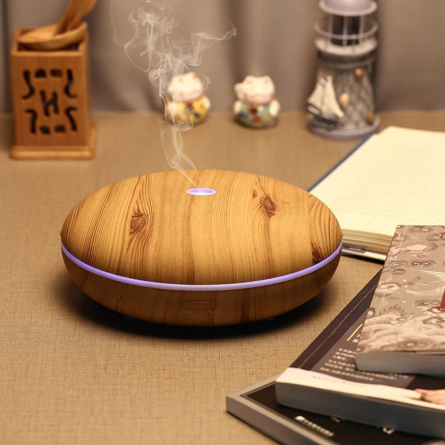 400mL Wood Grian Aroma Diffuser Mini Humidifier