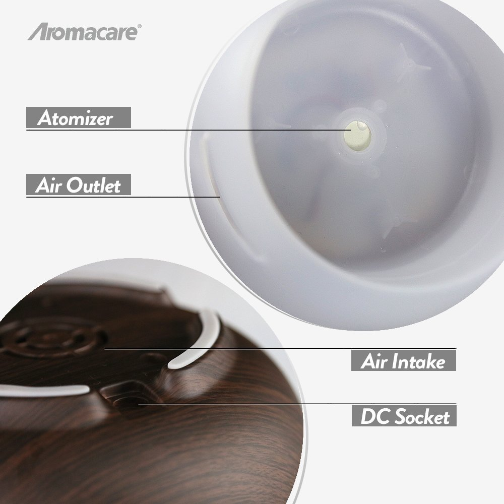 400ml wood grian aroma diffuser essential oil diffuser