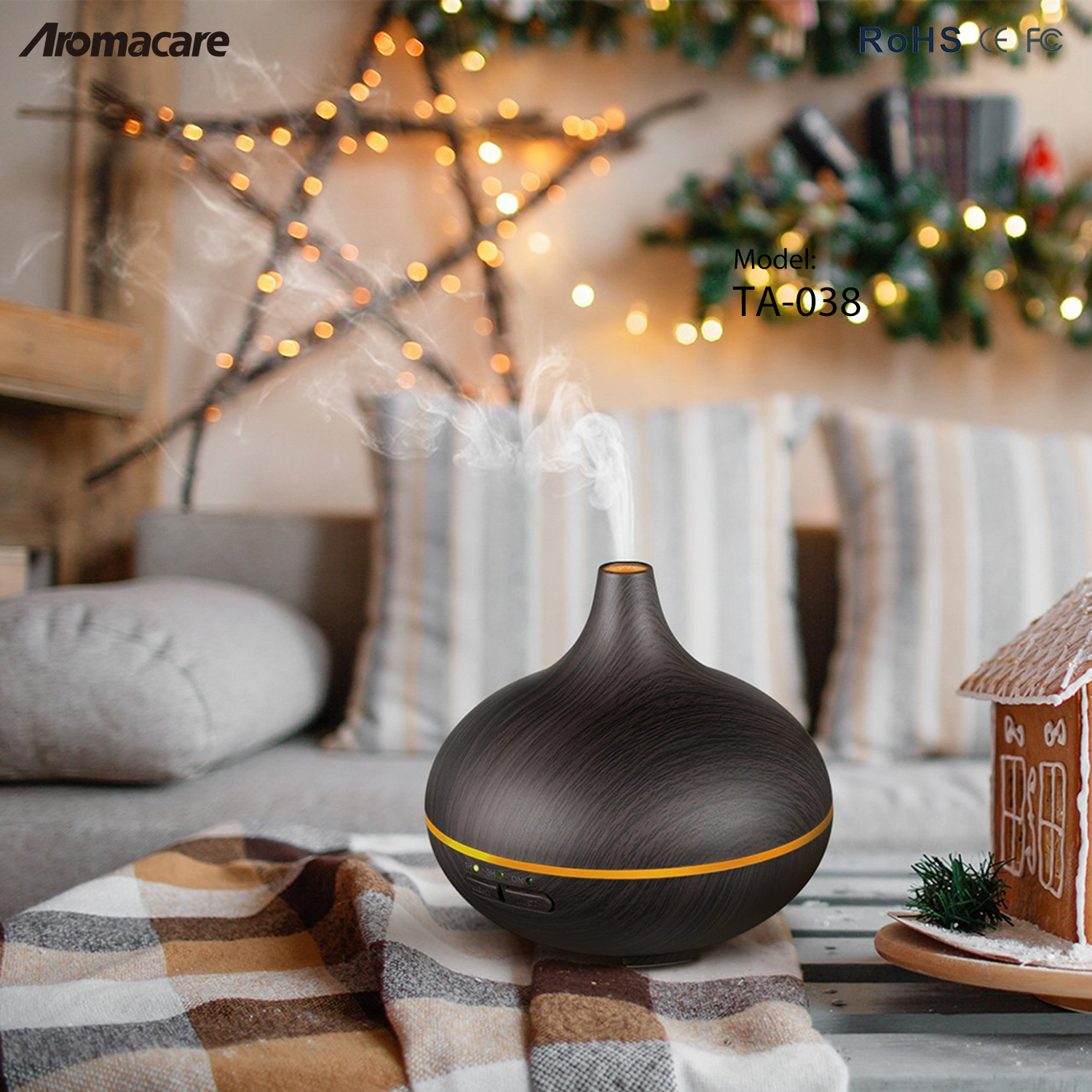 Air humidifier ultrasonic aromatherapy oil diffuser