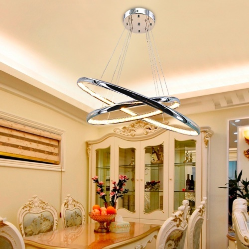 aluminum crystal pendant light