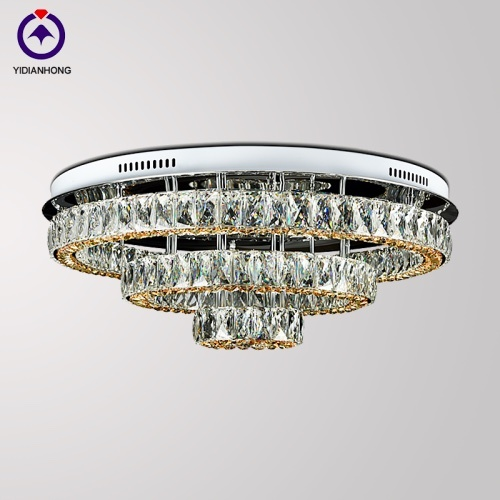 stainless steel crystal ceiling lamp