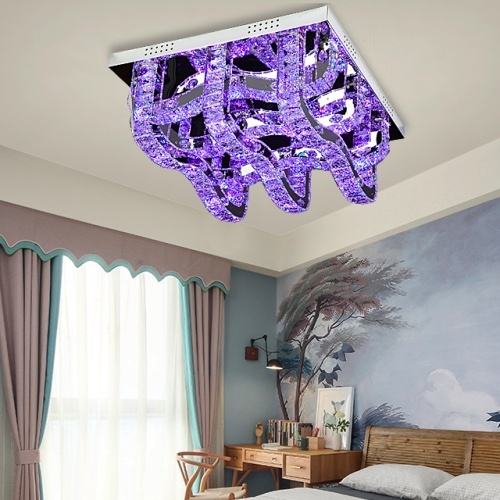RGB colour crystal ceiling lamps