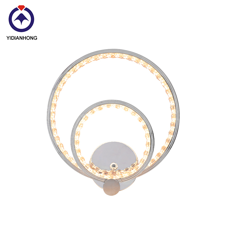 Wall lamp, yidinh lighting wholesales round aluminum crystal