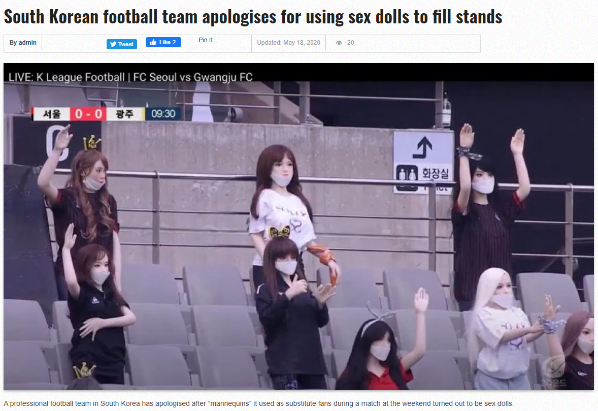 Korean Using Sex Dolls to Fill Stands